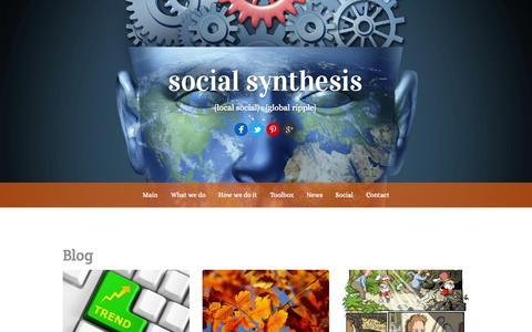 Screenshot of Blog social-synthesis.com - Blog | social synthesis - captured Sept. 30, 2014