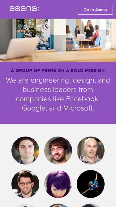 Screenshot of Team Page  asana.com - Asana  · Team