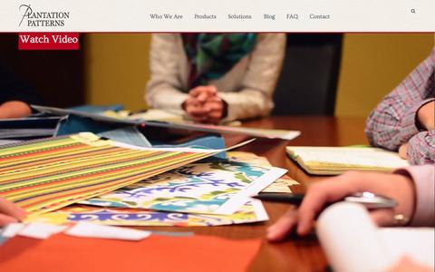 Screenshot of Home Page plantationpatterns.com - Plantation Patterns - captured Sept. 30, 2014