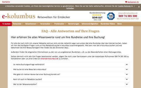 Screenshot of FAQ Page e-kolumbus.de - e-kolumbus - FAQ - captured Sept. 23, 2018