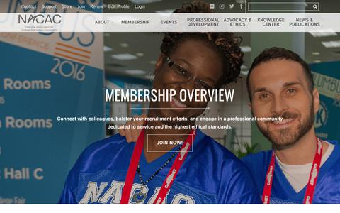 Screenshot of Signup Page nacacnet.org - National Association for College Admission Counseling- membership overview - captured Oct. 19, 2017