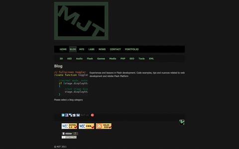 Screenshot of Blog mjt.net.au - MJT »   Please select a blog category - captured Nov. 18, 2016