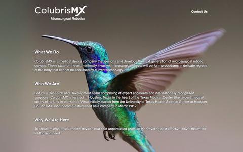 Screenshot of Home Page colubrismx.com - HOME | colubrismx - captured Jan. 9, 2020