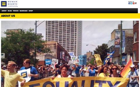 Screenshot of Contact Page hrc.org - Contact Us | Human Rights Campaign - captured Sept. 19, 2014