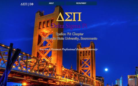 Screenshot of Home Page dsp-csus.com - Delta Sigma Pi - Epsilon Phi - captured Oct. 12, 2017