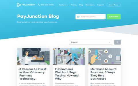 Screenshot of Blog payjunction.com - PayJunction Blog - captured Aug. 13, 2019
