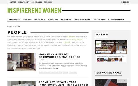 Screenshot of Team Page inspirerend-wonen.be - People - interviews & getuigenissen - captured Aug. 6, 2016