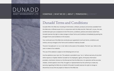 Screenshot of Terms Page dunadd.org - Dunadd - Asset Management LTD :: Terms of use - captured Oct. 9, 2018