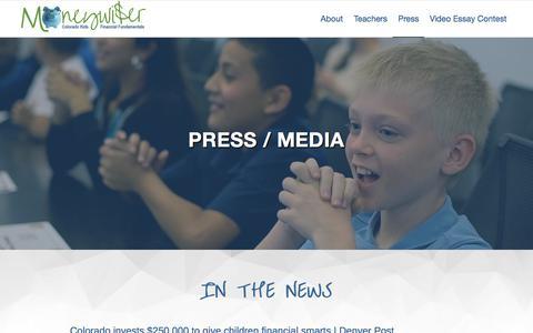 Screenshot of Press Page everfi.com - Press - MoneyWiser - captured May 2, 2018