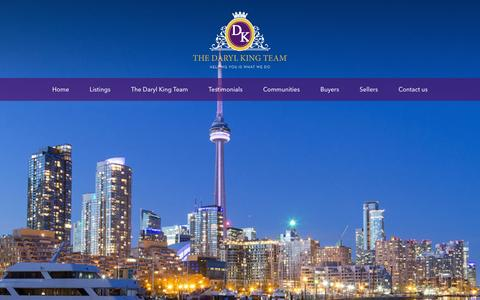 Screenshot of Home Page darylking.ca - The Daryl King Team, Royal LePage Your Community Realty - captured Feb. 24, 2016