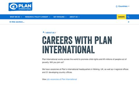 Screenshot of Jobs Page plan-international.org - Careers with Plan International | Plan International - captured Dec. 9, 2015