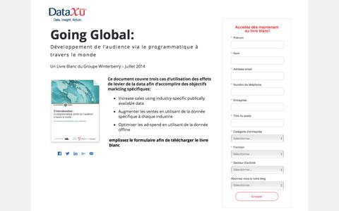 Screenshot of Landing Page dataxu.com - Winterberry Going Global: Programmatic Audience Development - captured Sept. 27, 2016