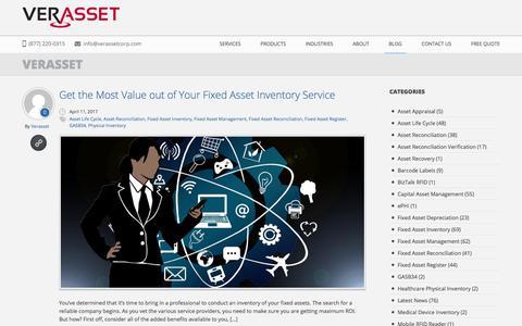 Screenshot of Press Page verasset.com - Blog | Verasset | Fixed Asset Inventory Service Specialists Asset Inventory Services and Asset Life Cycle Experts - captured Oct. 27, 2017