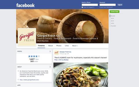 Screenshot of Facebook Page facebook.com - Giorgio Fresh Co. - Blandon, Pennsylvania - Food & Grocery, Food & Restaurant | Facebook - captured Oct. 22, 2014