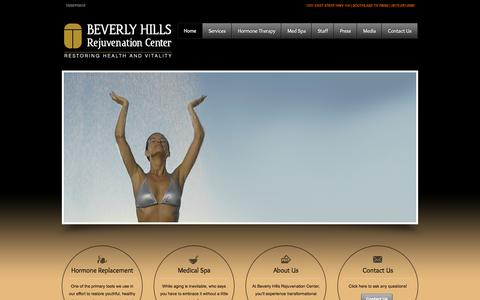 Screenshot of Home Page bhrcdallas.com - Beverly Hills Rejuvenation Center Dallas - captured Sept. 10, 2015