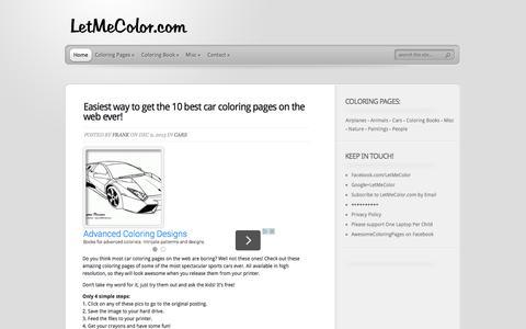 Screenshot of Home Page letmecolor.com - LetMeColor.com - Coloring Pages - captured Oct. 6, 2014