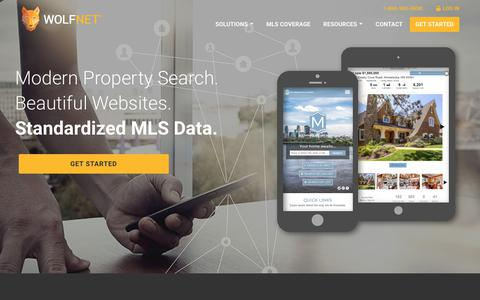 Screenshot of Home Page wolfnet.com - Real estate website design and data services | Wolfnet.com - captured March 3, 2018
