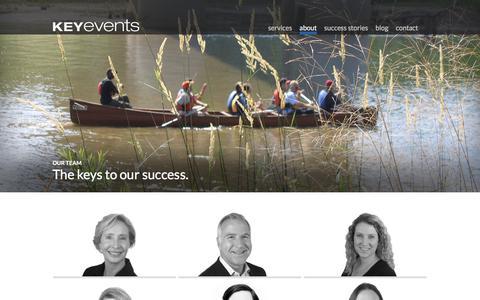 Screenshot of Team Page keyevents.com - Team Bios Archive - Key Events - captured Sept. 20, 2018