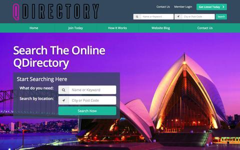 Screenshot of Home Page qdirectory.com.au - Diverse Businesses Directory - Find Diverse Businesses - Q Directory - captured Nov. 26, 2017