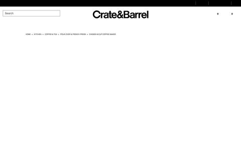 Chemex 8-Cup Coffee Maker & Reviews + Reviews | Crate and Barrel