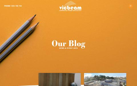 Screenshot of Blog vicbeam.com.au - Blog | vicbeam™ - captured Nov. 7, 2018