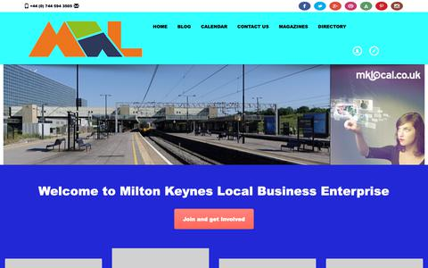 Screenshot of Home Page mklocal.co.uk - Home – MK Local - captured Dec. 7, 2018