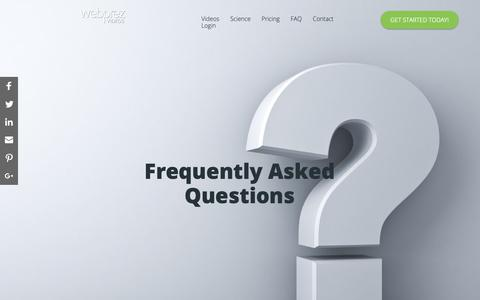Screenshot of FAQ Page webprez.com - WebPrez Videos - Frequently Asked Questions - captured Oct. 18, 2018