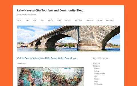 Screenshot of Blog golakehavasu.com - Lake Havasu City Tourism Blog - captured Jan. 14, 2016