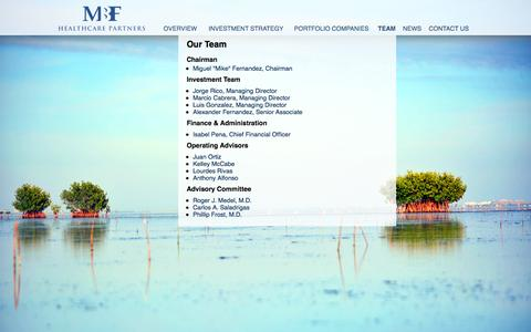 Screenshot of Team Page mbfhp.com - .:: MBFHP ::. - captured Oct. 3, 2014
