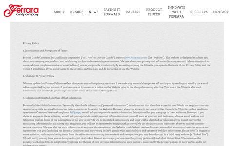 Screenshot of Privacy Page ferrarausa.com - privacy - captured Nov. 25, 2016