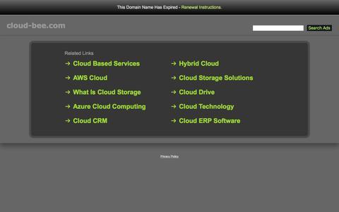 Screenshot of Home Page cloud-bee.com - Cloud-Bee.com - captured May 18, 2017