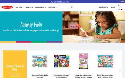 Activity Pads | Coloring Pads & Sticker Pads | Melissa & Doug