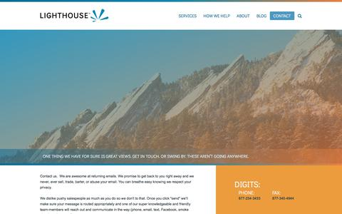 Screenshot of Contact Page lighthouseconferencing.com - Contact Us | Lighthouse Conferencing - captured July 19, 2018