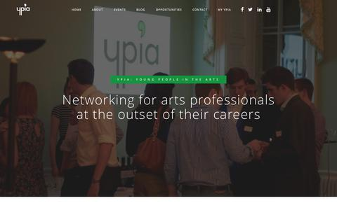 Screenshot of Home Page ypia.co.uk - YPIA | Young People In The Arts - captured Sept. 1, 2015