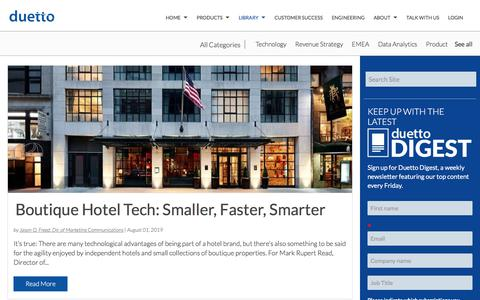 Screenshot of Case Studies Page duettocloud.com - Revenue Strategy Blogs | Hotel Industry News - Duetto Blog | Technology - captured Jan. 6, 2020