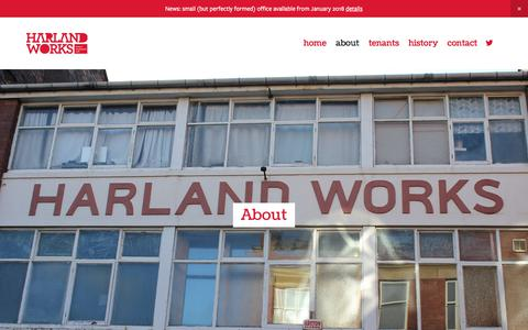 Screenshot of About Page harlandworks.co.uk - About — Harland Works - captured Nov. 21, 2017