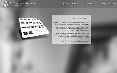 Screenshot of About Page motionone.net - MotionOne Studios Photography | About - captured Oct. 9, 2014