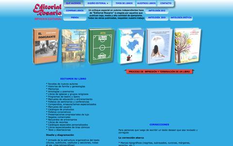 Screenshot of Home Page editorialrosario.com.ar - EDITORIAL ROSARIO - captured Jan. 26, 2015