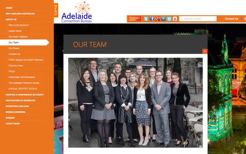 Screenshot of Team Page adelaideconvention.com.au - Our Team | Adelaide Convention Bureau - captured Oct. 4, 2014