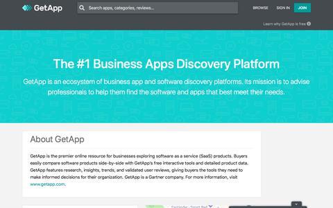 Screenshot of About Page getapp.com - About GetApp, a Gartner Company | GetApp® - captured June 27, 2019