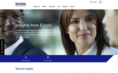 Screenshot of Case Studies Page epson.eu - Epson Newsroom - Epson - captured May 3, 2017