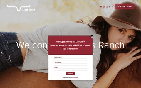 Screenshot of Home Page kimesranch.com - Kimes Ranch - captured Aug. 9, 2016