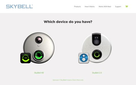 Screenshot of Support Page skybell.com - Support – SkyBell Video Doorbell - captured Feb. 14, 2016