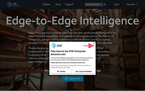 Edge-to-Edge Intelligence | AT&T Business