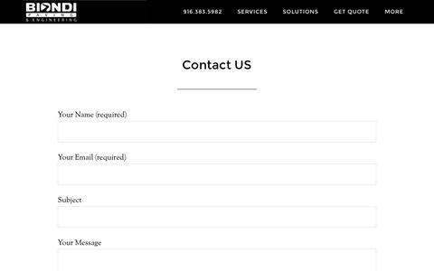 Screenshot of Contact Page biondipaving.com - Contact US – Biondi Paving & Engineering - captured Nov. 22, 2016