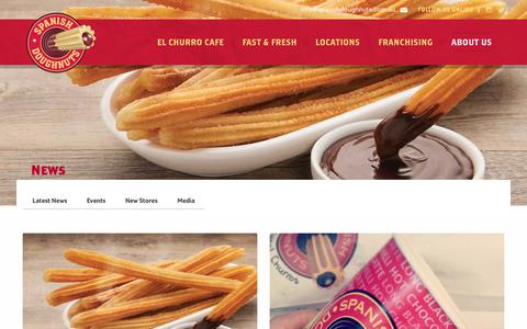 Screenshot of Press Page spanishdoughnuts.com.au - News - Spanish Doughnuts - captured Oct. 20, 2018