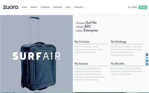 Screenshot of Case Studies Page zuora.com - Surf Air Case Study - Zuora - captured Sept. 11, 2017