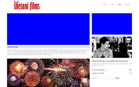Screenshot of Blog shetanifilms.com - Blog «  Shetani Films - captured Jan. 10, 2016
