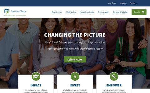 Screenshot of Home Page forwardsteps.org - Forward Steps – Forward Steps - captured Aug. 17, 2018