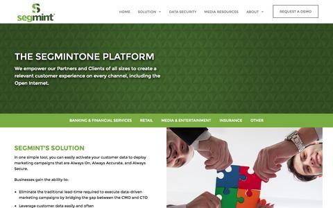 Screenshot of Products Page segmint.com - Marketing Solutions | Target Marketing | Customer Analytics | Segmint - captured July 3, 2015
